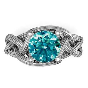 Jewelry - Blue Green Moissanite Ring